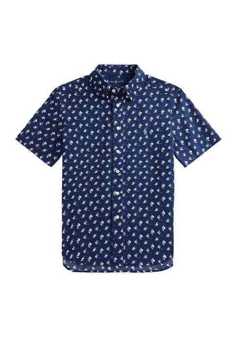 Ralph Lauren Childrenswear Boys 8-20 Angelfish-Print Cotton
