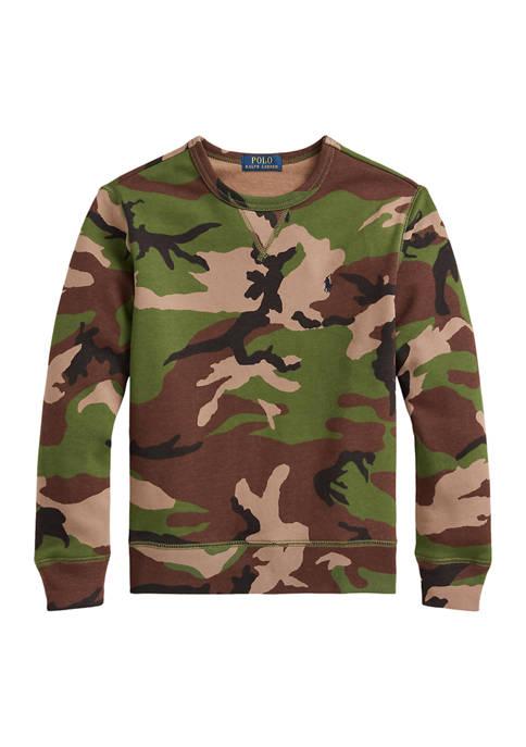 Ralph Lauren Childrenswear Boys 8-20 Camo Fleece Sweatshirt
