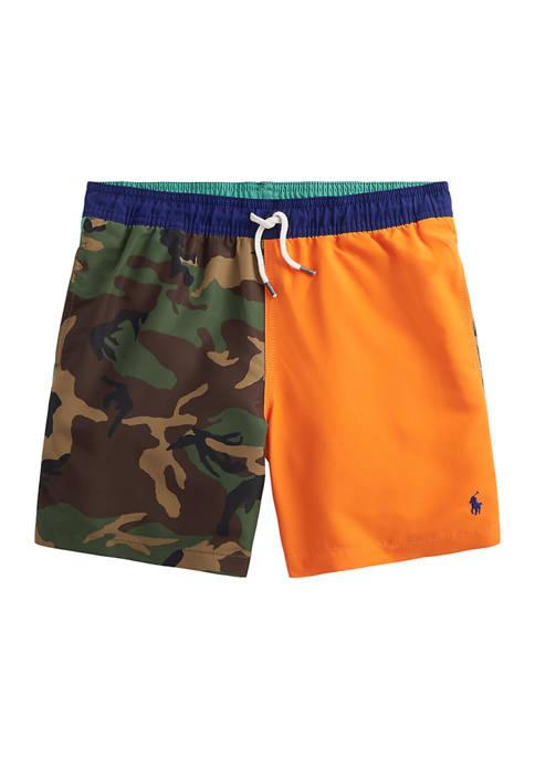 Ralph Lauren Childrenswear Boys 8-20 Traveler Swim Trunks