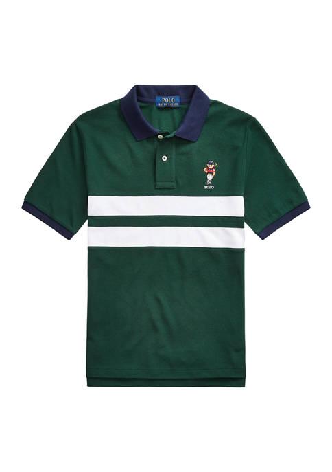 Boys 8-20 Polo Bear Cotton Mesh Polo Shirt