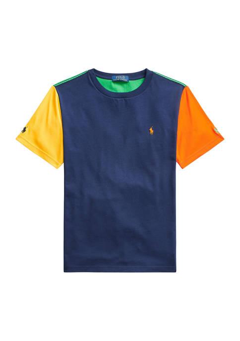 Ralph Lauren Childrenswear Boys 8-20 Color-Blocked Cotton Jersey