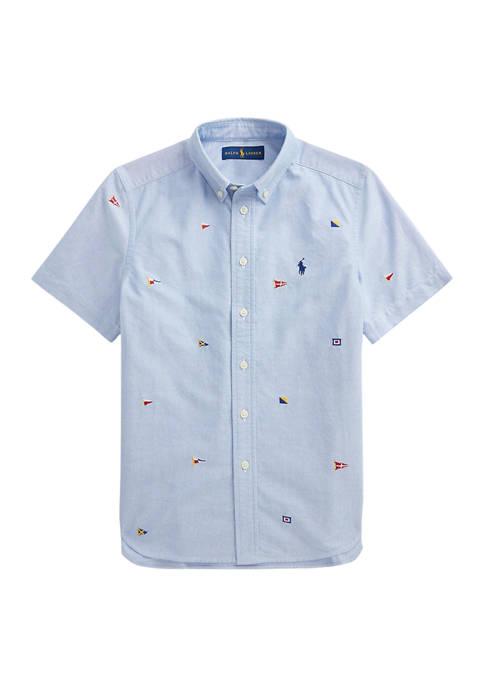 Ralph Lauren Childrenswear Boys 8-20 Nautical Flag Cotton