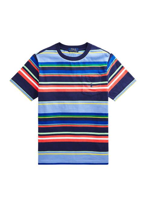 Boys 8-20 Striped Cotton Jersey Pocket T-Shirt