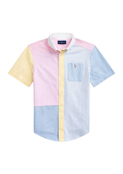 Ralph Lauren Childrenswear Boys 8-20 Striped Cotton Oxford