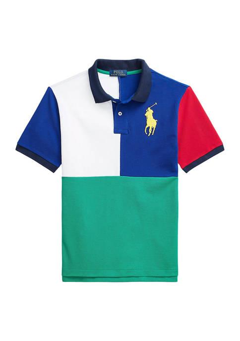 Ralph Lauren Childrenswear Boys 8-20 Color-Blocked Cotton Mesh