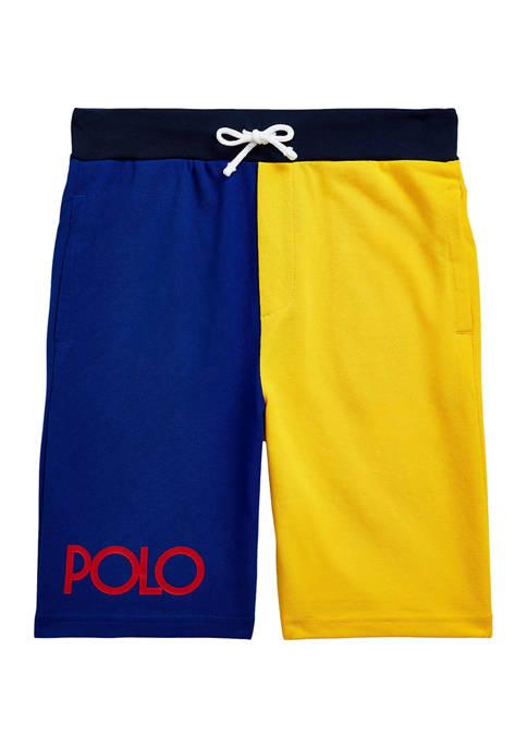 Boys 8-20 Color-Blocked Cotton Mesh Shorts
