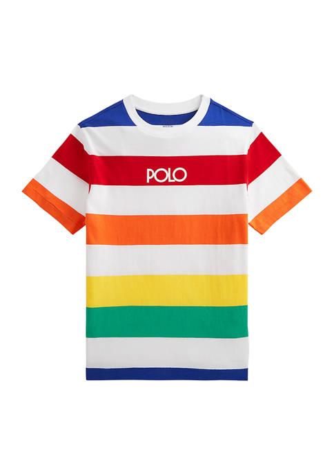 Boys 8-20 Logo Striped Cotton Jersey T-Shirt