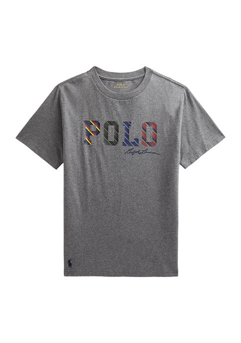 Ralph Lauren Childrenswear Boys 8-20 Striped-Logo Cotton Jersey