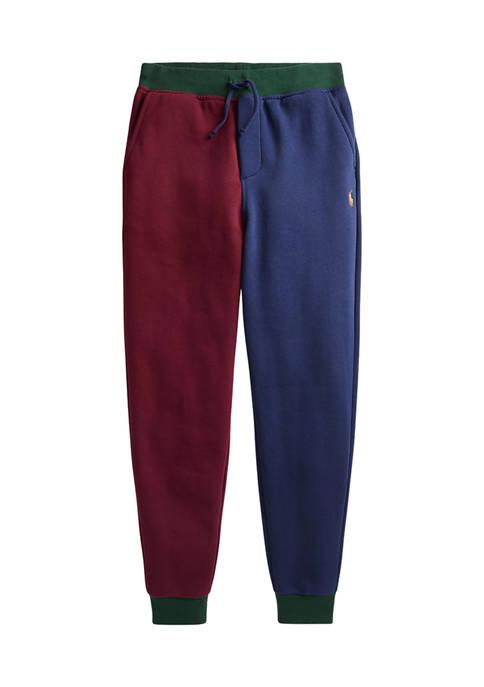 Ralph Lauren Childrenswear Boys 8-20 Color-Blocked Fleece Jogger
