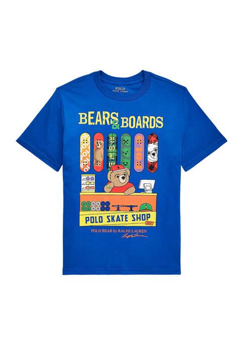 Ralph Lauren Childrenswear Boys 8-20 Polo Bear Cotton
