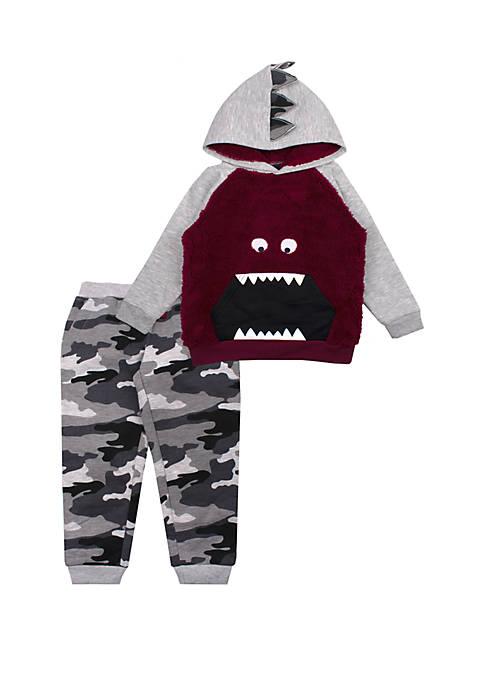 Nannette Toddler Boys Monster Full Zip Hoodie Set