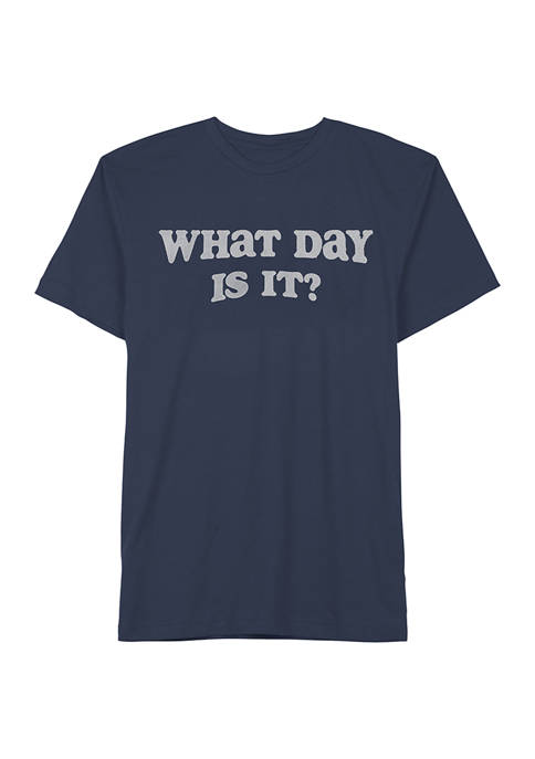 Boys 8-20 What Day Is It Graphic T-Shirt