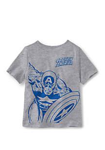 Well Worn Boys 4-7 Captain America Short Sleeve T-Shirt