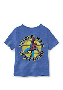 Well Worn Boys 4-7 Hero Face Spider Man T-Shirt