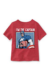 Well Worn Toddler Boys 4-7 Im The Captain Short Sleeve T-Shirt