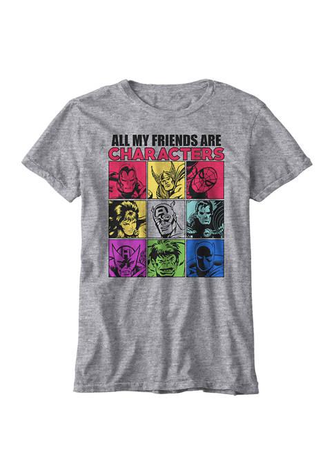 Marvel™ Boys 8-20 Character Friends T-Shirt