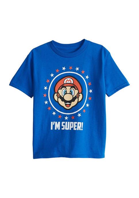Boys 4-7 Mario For President T-Shirt
