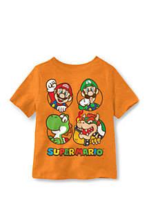 Well Worn Boys 4-7 Super Mario Team Short Sleeve T-Shirt