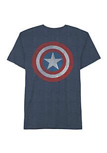 Well Worn Boys 8-20 Captain America Shield Graphic T-Shirt