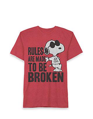 Rot Snoopy Babies Boys T-Shirt