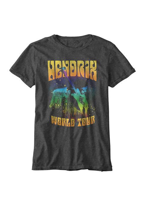 Jimi Hendrix Boys 8-20 World Tour T-Shirt