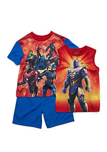 Boys 4-10 Avengers 3 Piece Pajama Set