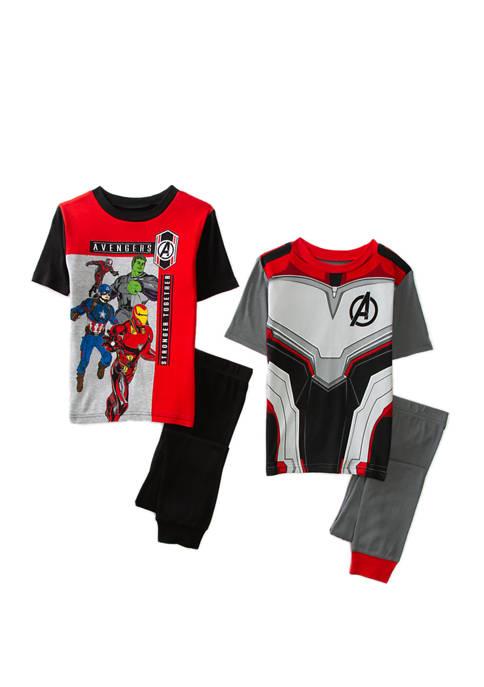Boys 4-20 4-Piece Avengers Pajama Set