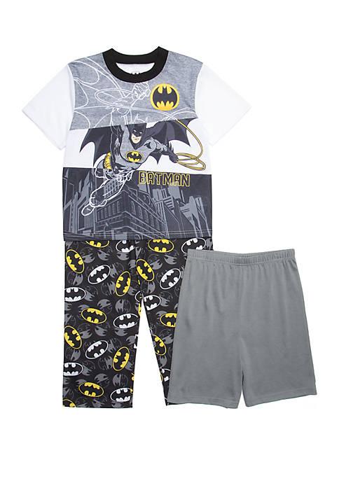 Batman™ Boys 4-20 Batman 3 Piece Pajama Set