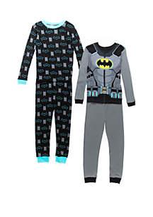 Batman™ Boys 4-10 Batman™ 4 Piece Pajama Set