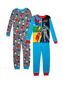 DC Comics Justice League™ Boys 4-10 Justice League 4 Piece Pajama Set