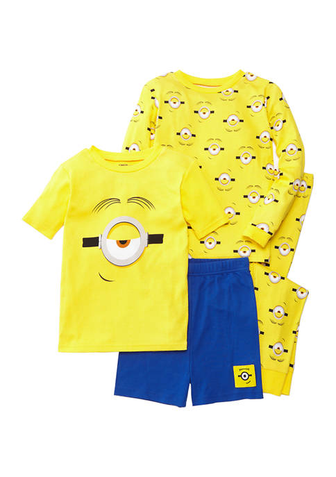 AME Boys 4-10 Minions 4-Piece Pajama Set