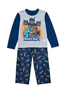 Boys 4-20 2-Piece Minecraft Pajama Set
