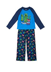 Minecraft Boys 8-20 Minecraft 2 Piece Pajama Set