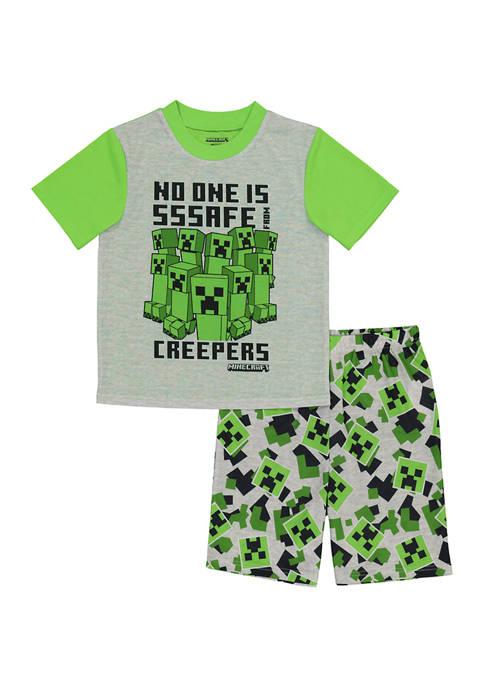 Boys 4-20 2 Piece Minecraft Graphic Pajama Set