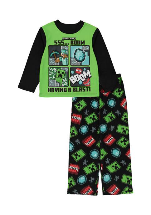 Boys 4-20 Minecraft Fleece Pajama Set