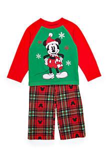 Boys 4-20 2-Piece Mickey Mouse Pajama Set