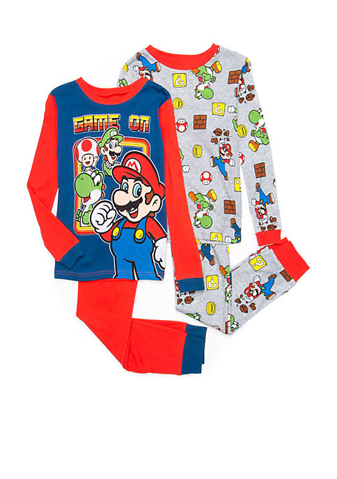 AME Boys 4-20 Mario Pajama Set