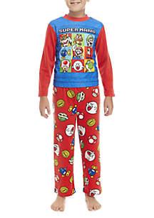Super Mario Boys 4-20 Super Mario Fleece Pajama Set