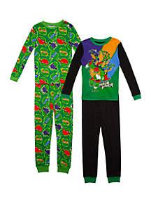 Nickelodeon™ Boys 4-10 TMNT 4 Piece Pajama Set