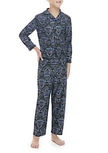 Boys 4-20 Black Panther Coat Pajama Set