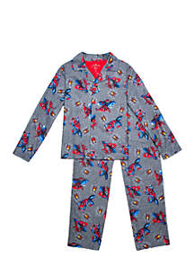 Boys 8-20 Spider-Man Coat Pajama Set