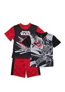 Star Wars® Boys 8-12 Star Wars 3 Piece Pajama Set