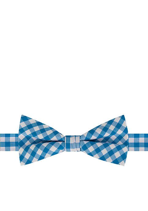 Crown & Ivy™ Aqua Gingham Tie
