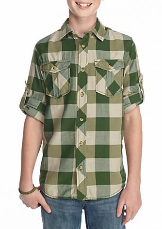 6c49d6de177541 Red Camel® Check Woven Shirt Boys 8-20