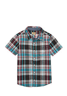 Boys 4-8 Two Pocket Woven Button Down Shirt