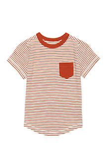 Boys 4-7 Short Sleeve Curved Hem Top