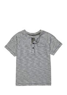 Boys 4-7 Short Sleeve Raglan Henley Shirt