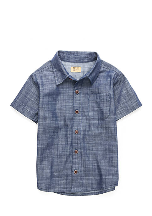 TRUE CRAFT Boys 4-8 Woven Shirt