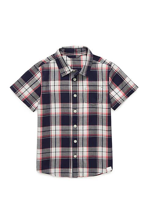 TRUE CRAFT Boys 4-8 Short Sleeve Woven Shirt