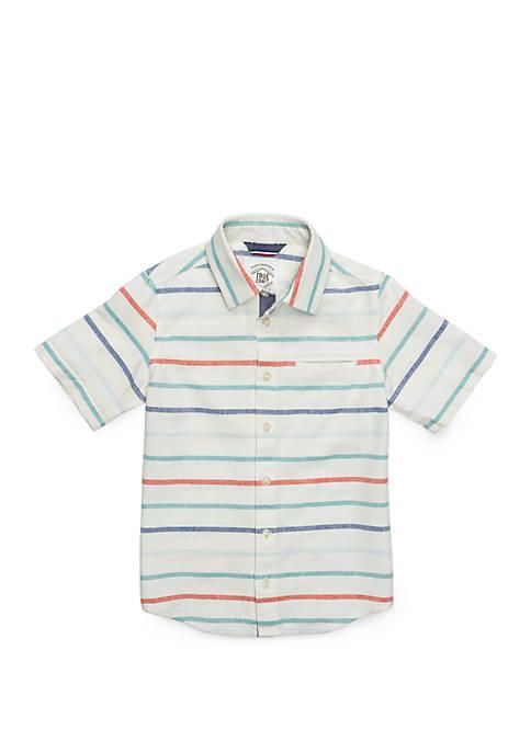 TRUE CRAFT Boys 4-8 Welt Pocket Woven Shirt